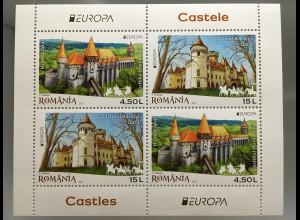 Rumänien 2017 Block 697 Europaausgabe Burgen und Schlösser Burgmotiv