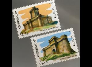 Aserbaidschan 2017 Nr. 1193-94 Europaausgabe Burgen und Schlösser