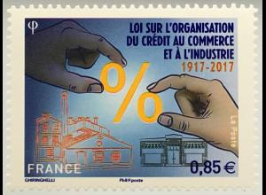 Frankreich France 2017 Michel Nr. 6702 100 J. Kreditgesetz für Handel Industrie
