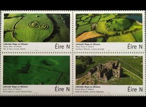 Irland 2017 Michel Nr. 2218-21 Königliche Stätten in Irland Natur Landschaften