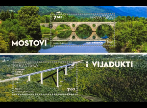 Kroatien Croatia 2017 Michel Nr. 1280-81 Brücken und Viadukte Mostovi Vijadukti
