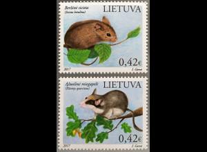 Litauen Lithuania 2017 Michel Nr. 1248-49 Das Rote Buch Tier- und Pflanzenarten