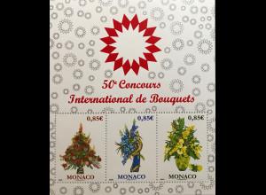 Monako Monaco 2017 Block 122 Internationaler Wettbewerb der Floristen Flora