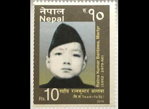Nepal 2016 Neuheit Ratna Kumar Bantawa berühmte Persönlichkeit