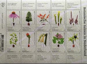 Niederlande 2017 Nr. 3584-93 Botanische Gärten in den Niederlanden Blumen Flora