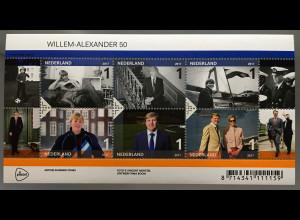 Niederlande 2017 Nr. 3594-99 50. Geburtstag von König Willem-Alexander