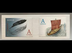 Norwegen 2017 Nr. 1935-36 150 Jahre Ausgrabungen des Tune Schiffs Schiffsverkehr