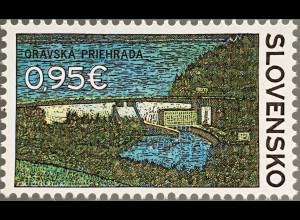 Slowakei Slovakia 2017 Nr. 815 Orava Stausee künstlich angelegter See Speicher