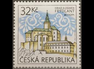 Tschechische Republik 2017 Michel Nr. 920 Europa Burgen und Schlösser