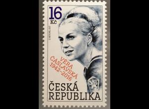 Tschechische Republik 2017 Michel Nr. 922 75. Geburtstag von Věra Čáslavská