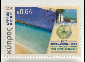 Zypern griechisch Cyprus 2017 Nr. 1375 Philatelie und Tourismus Jahr Entwicklung