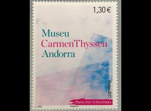 Andorra französisch 2017 Michel Nr. 814 Museums Carmen Thyssen Andorra Escaldes