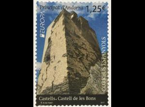 Andorra spanisch 2017 Michel Nr. 450 Europa Burgen und Schlösser Castelle