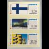 Dänemark Denmark 2017 Automatenmarken 102-04 Finlandia Architektur Landschaft
