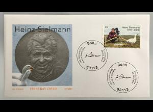 Bund BRD Ersttagsbrief FDC Nr. 3318 8. Juni 2017 Geburtstag von Heinz Sielmannn