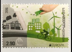 Georgien Michel Nr. 681 Europa Umweltbewußt leben Ökologie Umweltschutz