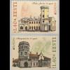 Estland EESTI 2017 Michel Nr. 890-91 Europaausgabe Burgen und Schlösser