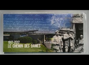 Frankreich France 2017 Block 360 100. Jahrestag der Schlacht am Chemin des Dames