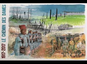 Frankreich France 2017 Block 359 100. Jahrestag der Schlacht am Chemin des Dames