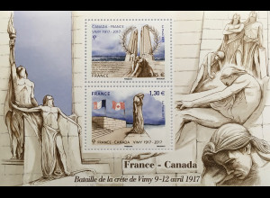 Frankreich France 2017 Block 358 100. Jahrestag der Frühjahrsschlacht bei Arras
