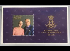 Dänemark Färöer 2017 Block 42 Goldene Hochzeit Königin Margrethe Prinz Henrik