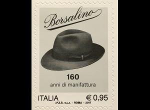 Italien Italy 2017 Michel Nr. 3974 Spitzenprodukte (XXII): 160 Jahre Borsalino