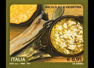 Italien Italy 2017 Michel Nr. 3969 Spitzenprodukte (XX): Baccalà alla vicentina