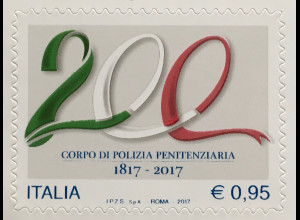 Italien Italy 2017 Michel Nr. 3970 200 Jahre Polizia Penitenziaria Polizei