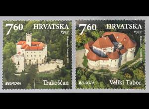 Kroatien Croatia 2017 Nr. 1282-83 Europaausgabe Burgen und Schlösser