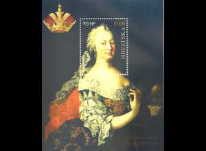 Kroatien Croatia 2017 Block 67 300. Geburtstag von Kaiserin Maria Theresia