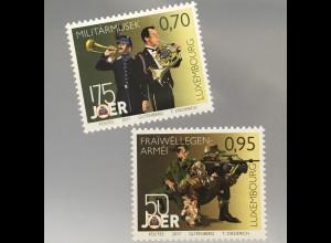 Luxemburg 2017 Michel Nr. 2128-29 175 Jahre Großherzogliche Militärkapelle