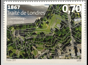 Luxemburg 2017 Michel Nr. 2130 150 Jahre Zweiter Londoner Vertrag mit Folie