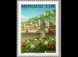 Monako Monaco 2017 Michel Nr. 3347 Europa Burgen und Schlösser Fürstenpalast