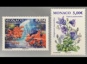 Monako Monaco 2017 Michel Nr. 3344-45 Einheimische Tiere und Pflanzen Flora