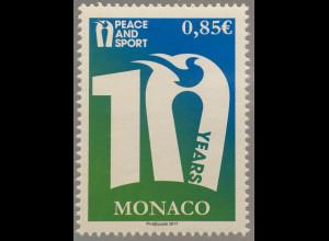 Monako Monaco 2017 Michel Nr. 3346 Frieden durch Sport Peace and Sport