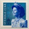 Schweden Sverige 2017 Michel Nr. 3167 Freimarke Königin Silvia mit Durchstich
