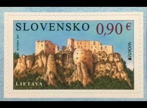 Slowakei Slovakia 2017 Nr. 817 Europaausgabe Burgen und Schlösser aus Markenheft