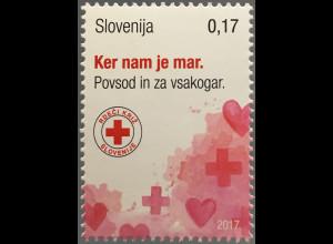 Slowenien Slovenia 2017 Michel Nr. 78 Zwangszuschlag Woche des Roten Kreuzes