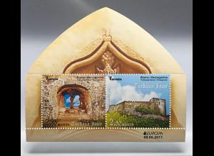 Bosnien Herzegowina 2017 Block 59 Europa Burgen und Schlösser tolle Blockform