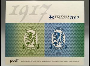 Finnland Finland 2017 Block 94 Briefmarkenausstellung FINLANDIA 2017