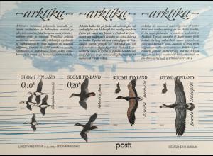 Finnland Finland 2017 Block 93 Zugvögel der Arktis Eisente Samtente Ringelgans
