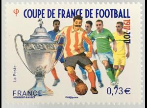 Frankreich France 2017 Michel Nr. 6747 100 Jahre nationaler Fußballpokal Sport