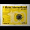 Frankreich France 2017 Neuheit Jubiläum 100 Jahre Lions Club Soziale Arbeit