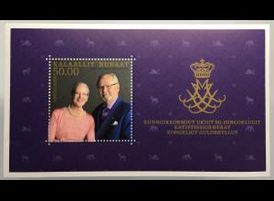 Grönland 2017 Block 82 Königliche Goldene Hochzeit Königin Margreth Prinz Henrik
