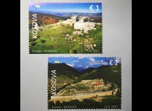 Kosovo 2017 Michel Nr. 384-85 Europaausgabe Burgen und Schlösser Keshtjella