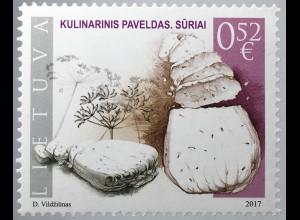 Litauen Lithuania 2017 Michel Nr. 1252 Kulinarisches Erbe Käse Lebensmittel