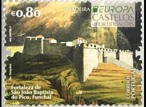 Madeira 2017 Michel Nr. 371 Europaausgabe Burgen und Schlösser Castelos