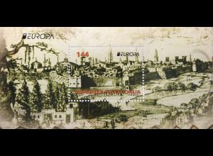 Makedonien Macedonia 2017 Block 33 Europaausgabe Burgen und Schlösser