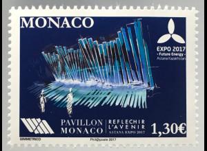 Monako Monaco 2017 Michel Nr. 3349 Weltausstellung EXPO Astana Energie Zukunft