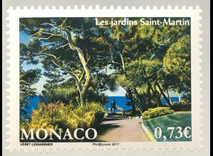 Monako Monaco 2017 Michel Nr. 3348 Die Gärten von Saint-Martin Flora Pflanzen